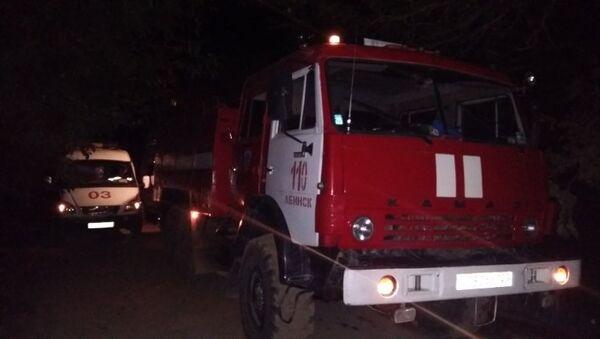 Пожар в Абинском районе ст. Холмской