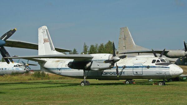 Авиалайнер Ан-24. Архивное фото