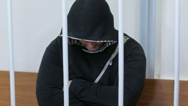 Подозреваемый в подготовке теракта в Москве Эльман Ашаев в Лефортовском суде города Москвы
