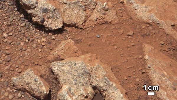 Фрагменты гальки, найденные марсоходом Curiosit