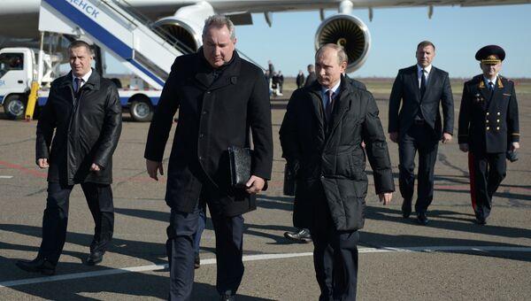 Рабочая поездка президента РФ В.Путина в Амурскую Область