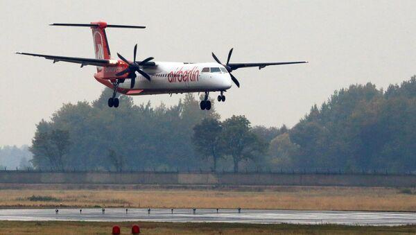 Самолет компании Air Berlin в Калининградском аэропорту Храброво