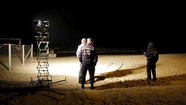 Спасательная операция по поиску пострадавших после крушения катера у берегов Одесской области