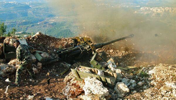Позиция сирийской армии в районе поселения Сальма. Архивное фото