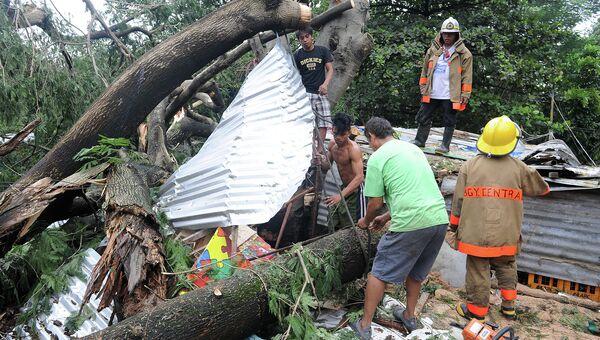 Последствия тайфуна Koppu на Филиппинах. Октябрь 2015
