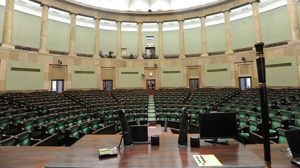 Зал заседаний парламента Польши в Варшаве