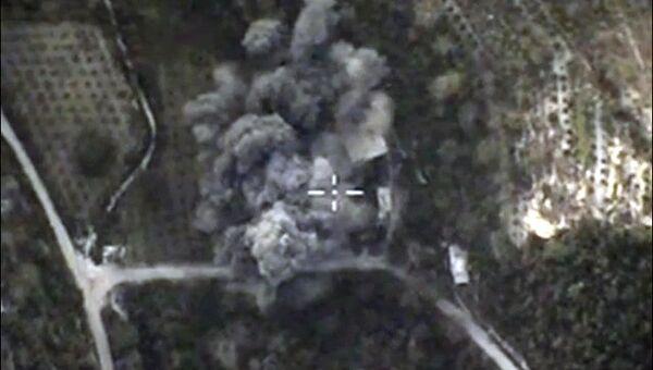 Авиаудары ВКС России по позициям ИГ в Сирии