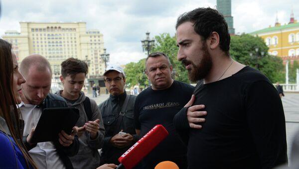 Лидер православного движения Божья воля Дмитрий Цорионов по прозвищу Энтео. Архивное фото