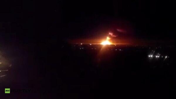 Пожар на складе ракетно-артиллерийского вооружения в городе Сватово Луганской области, Украина