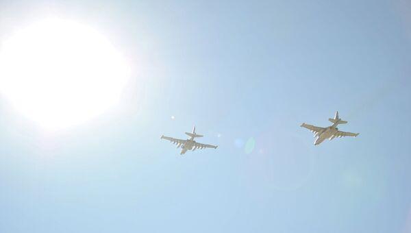 Российские самолеты в небе над Сирией. Архивное фото