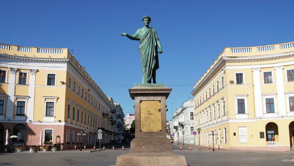 Памятник Дюку де Ришелье в Одессе. Архивное фото