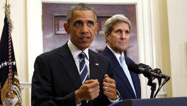 Президент США Барак Обама делает заявление о строительстве нефтепровода Keystone