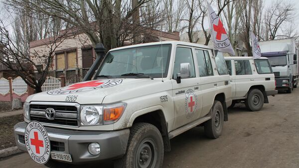 Автомобили Международного Комитета Красного Креста. Архивное фото