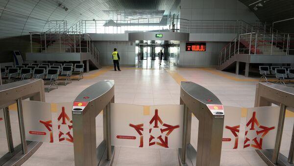 Железнодорожный терминал в международном аэропорту Казань. Архивное фото