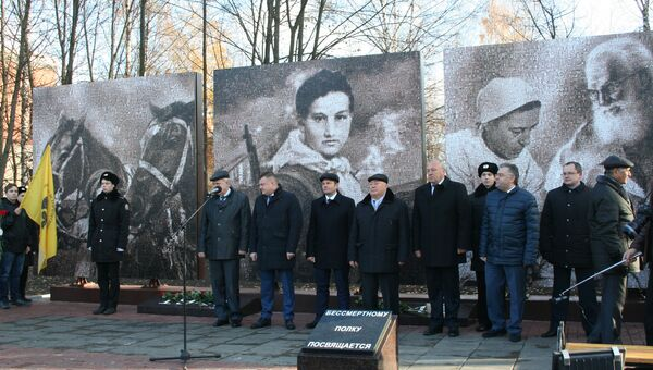 Мемориал из 17 тыс фотографий военных лет в Тамбове