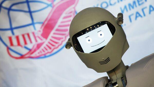 Новая антропоморфная робототехническая система Андронавт во время демонстрации в Центре подготовки космонавтов (ЦПК) имени Юрия Гагарина