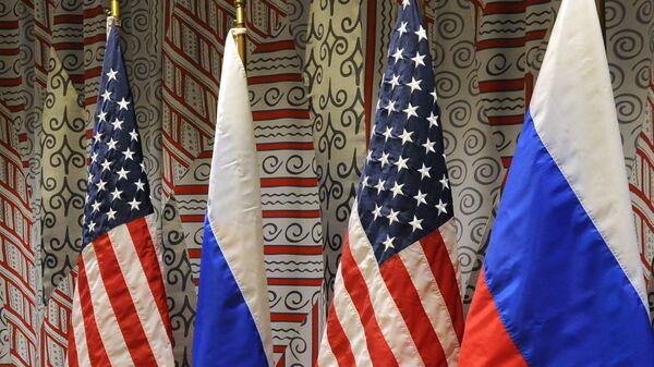 Флаги России и США. Архивное фото.