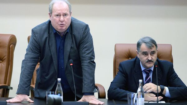 Исполняющий обязанности президента ВФЛА Вадим Зеличенок (слева). Архивное фото