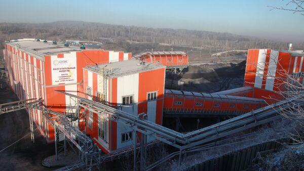 Открытие реконструированного обогатительного модуля шахты Талдинская-Западная-1 ОАО СУЭК-Кузбасс. Архивное фото