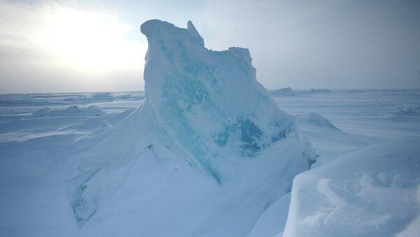 Открытие дрейфующей станции Северный полюс-2015 . Архивное фото
