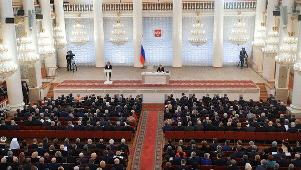 Совместное заседание членов Госдумы РФ и Совета Федерации РФ