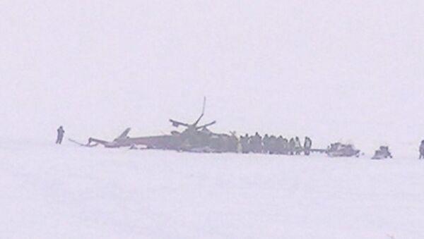 Вертолет Ми-8 потерпел крушение в Красноярском крае. Кадры с места ЧП