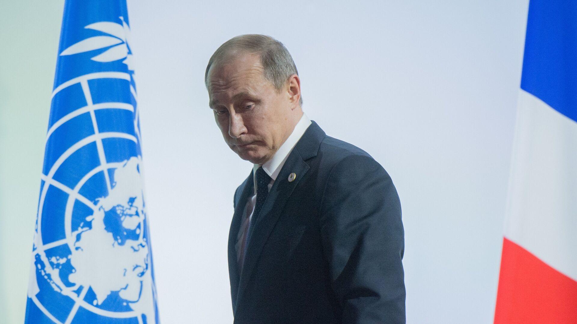 Президент РФ Владимир Путин на климатической конференции ООН в Париже - РИА Новости, 1920, 17.09.2020