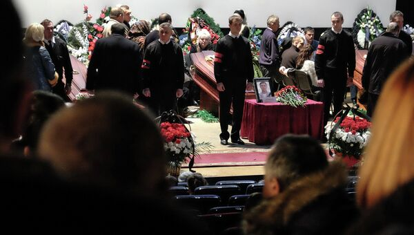 Гражданская панихида по сотрудникам авиакомпании Волга-Днепр, погибшим в результате теракта в гостинице Рэдиссон