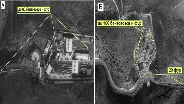Скопление бензовозов. Маршруты транспортировки нефти в Турцию