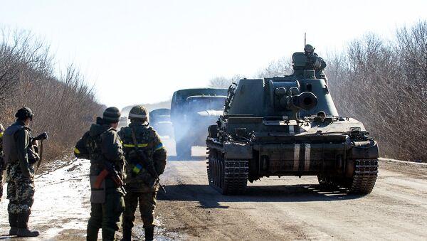 Украинские военные в Донецкой области. Декабрь 2015