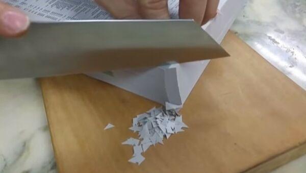 Нож, который режет бумагу как масло