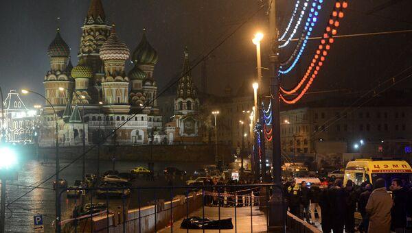 Место убийства Бориса Немцова. Архивное фото