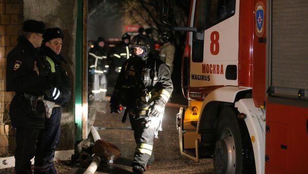 Пожар на Тушинском машиностроительном заводе в Москве