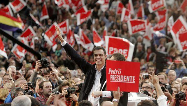 Лидер Испанской социалистической рабочей партии Педро Санчес. Архивное фото