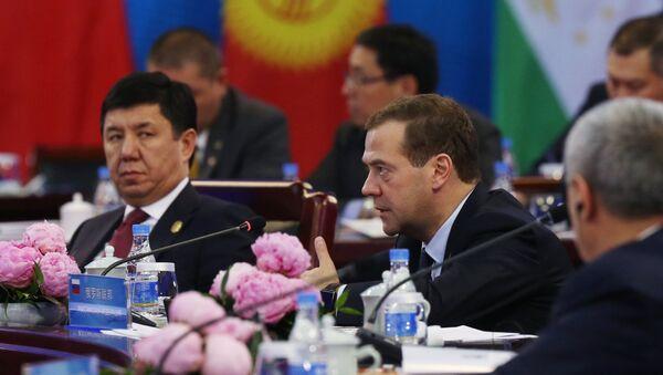 Премьер-министр РФ Дмитрий Медведев принял участие в заседании Совета глав правительств стран ШОС