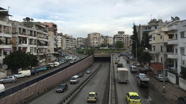 Вид на город Латакия в Сирии