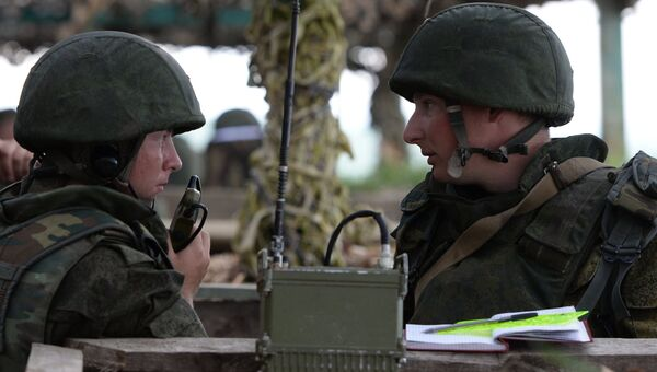 Военнослужащие во время учений войск Центрального военного округа. Архивное фото