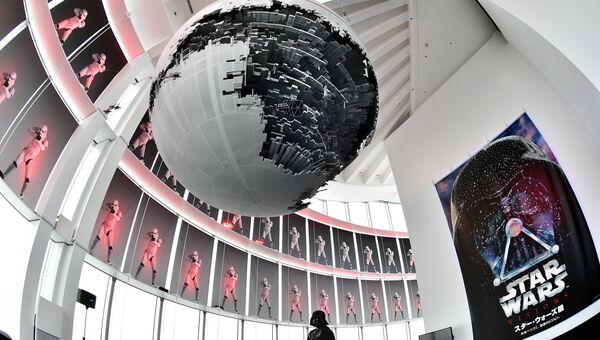 Модель Звезды смерти на выставке. Архивное фото