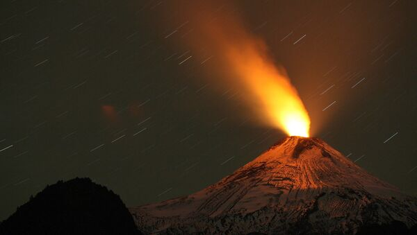 Извержение вулкана Вильяррика в Чили