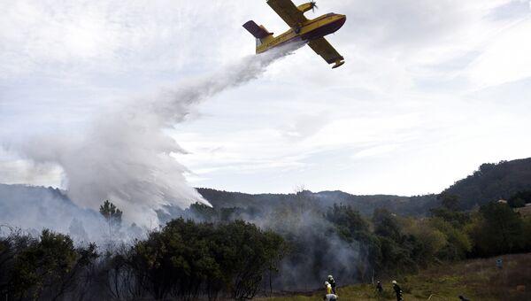 Тушение лесных пожаров в Испании. Архивное фото