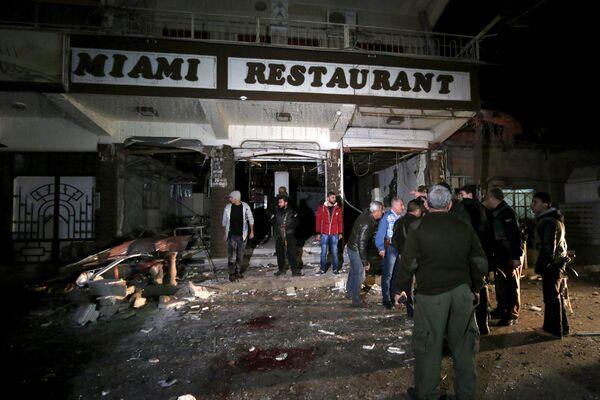Взрыв в ресторане в центре города Камышли на северо-востоке Сирии