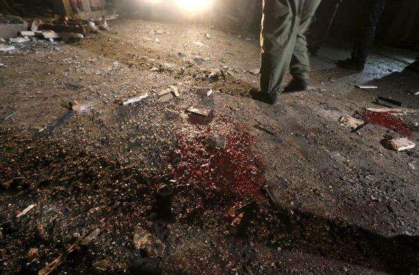 На месте теракта в городе Камышлы, Сирия