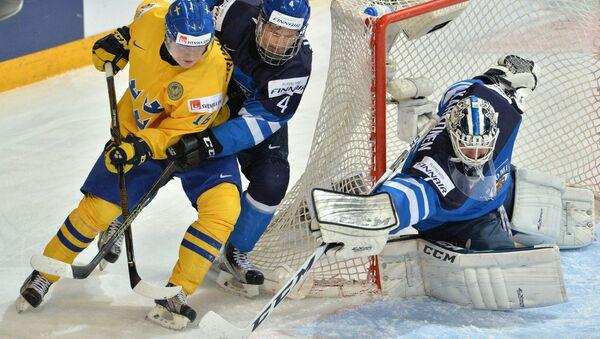 Хоккей. Молодежный чемпионат мира. Матч Швеция - Финляндия