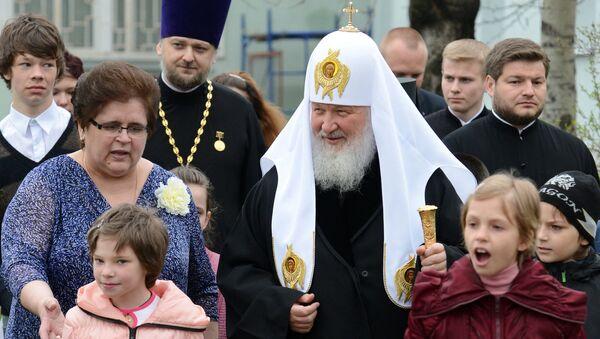Патриарх Кирилл посетил реабилитационный центр для детей
