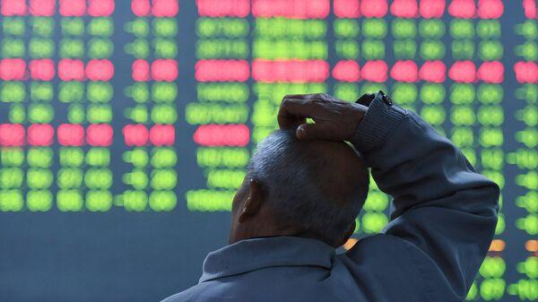Биржевые торги в  Китае. Архивное фото