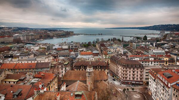 Вид на Женеву, Швейцария. Архивное фото