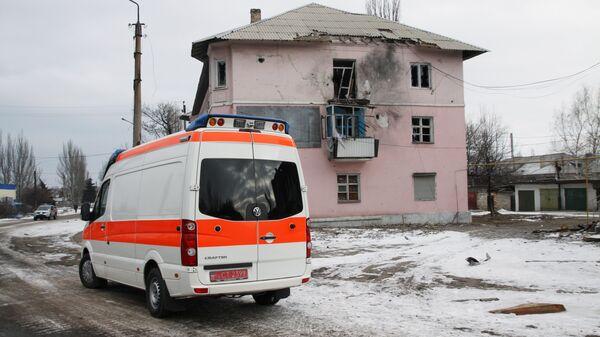 Автомобиль скорой помощи в Донецкой области