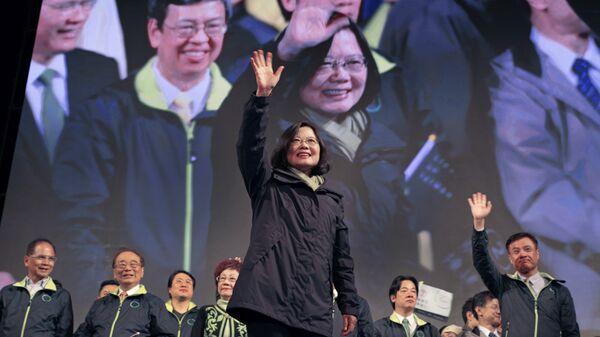 Цай Инвэнь одержала победу на выборах главы администрации Тайваня