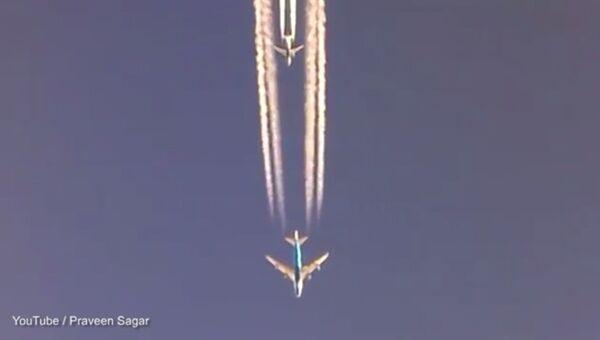Три самолета Boing устроили гонку