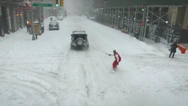 На сноуборде по Нью-Йорку